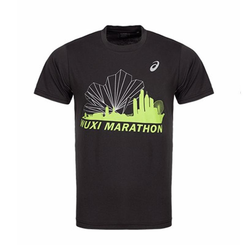 无锡马拉松限定款男士印花T恤