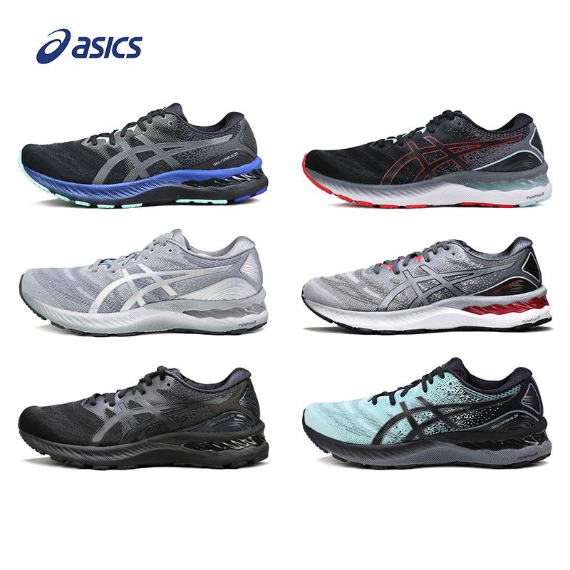 ASICS亚瑟士NIMBUS23男跑鞋N23黑武士铂金缓震加宽跑步鞋